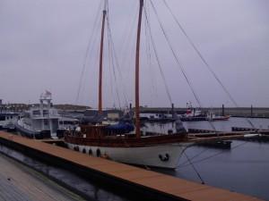 Sowas liegt im März auf Vlieland im Hafen...