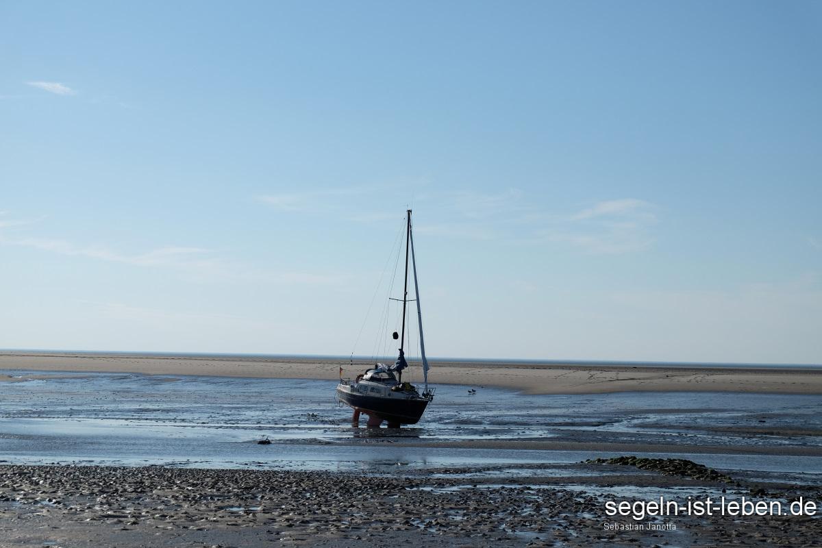 Blaue Lagune Bucht Spiekeroog Segelboot Bea Orca
