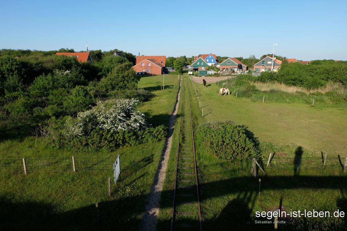 Inselbahn Spiekeroog Gleise Inseldorf