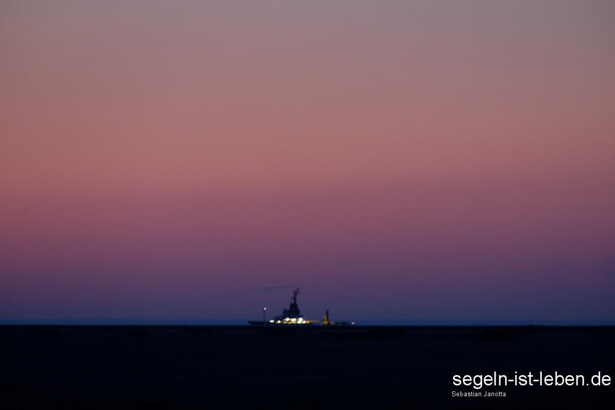 Schiff Nordsee Dämmerung Spiekeroog
