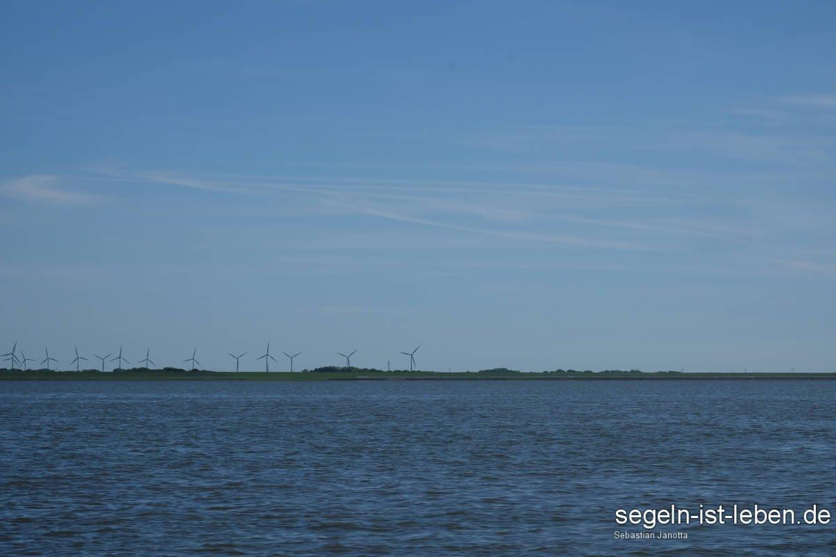 Ostfriesland Windräder Wattenmeer Festland